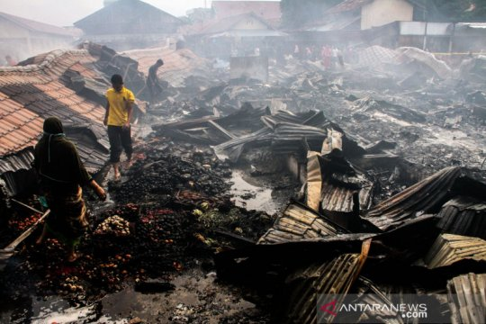 Kebakaran pasar Inpres di Lhokseumawe