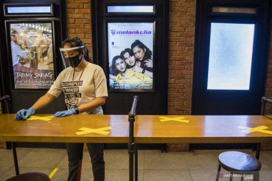 Simulasi pembukaan bioskop di era normal baru