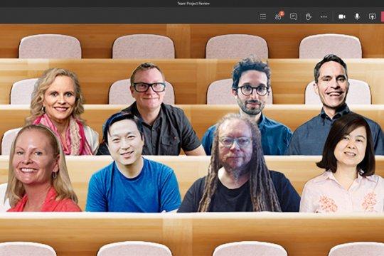 Fitur baru Microsoft Team pertemukan peserta video call di satu tempat
