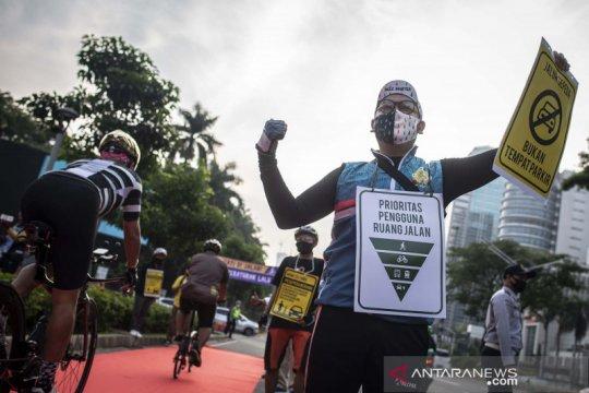 Jalur sepeda Jakarta ditambah seiring peningkatan penggunanya