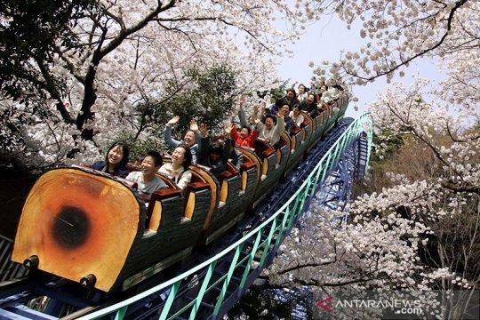 Cegah COVID-19, naik wahana rollercoaster di Jepang dilarang teriak