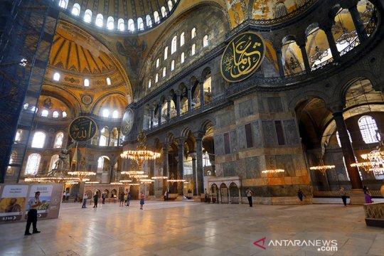 Mosaik figur Kristiani di Hagia Sophia akan ditutup selama ibadah