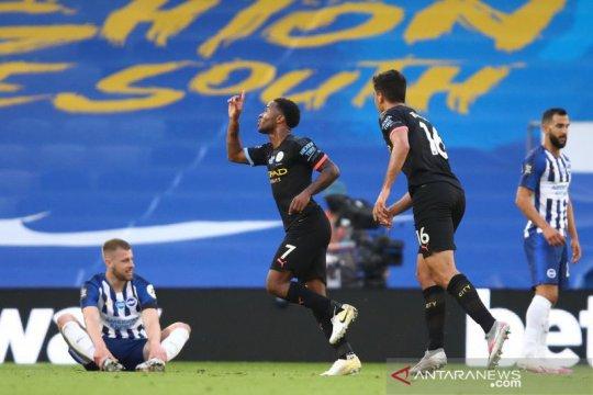 Hattrick Raheem Sterling warnai pesta 5 gol City ke gawang Brighton