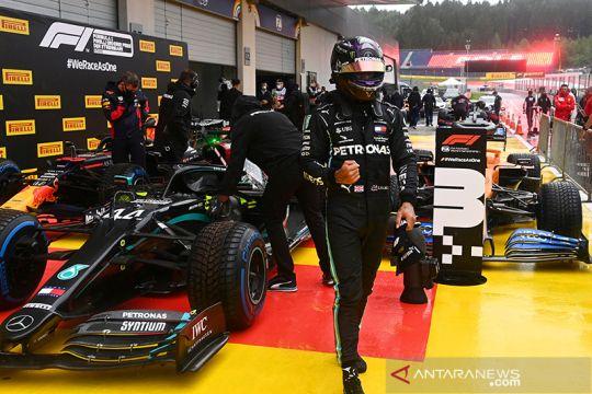 Hujan, Hamilton urutan terdepan di kualifikasi F1