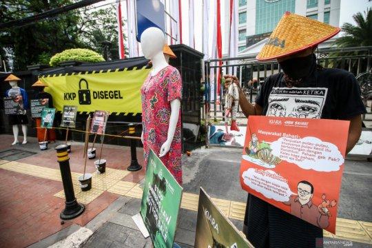 Aksi protes kebijakan Menteri Kelautan dan Perikanan