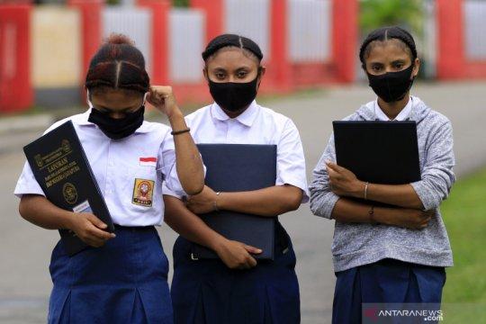 Hari pertama sekolah di Jayapura