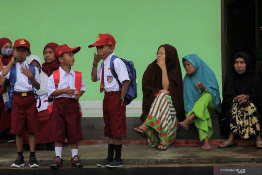 Hari pertama sekolah di Konawe