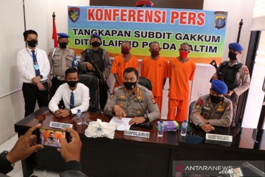 Polisi Perairan tangkap tiga pencuri tali kapal di Kaltim