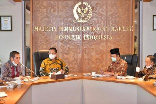 Ketua MPR terima pengurus KAHMI bahas RUU HIP dan empat pilar