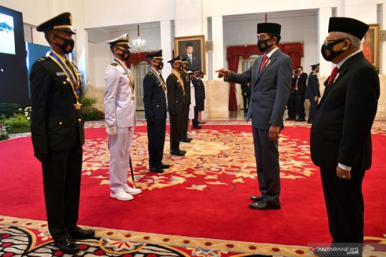 Presiden hadiri Prasetya Prawira TNI dan Polri tahun 2020