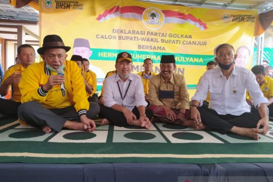 Golkar dukung Herman-Mulyana di Pilkada Cianjur