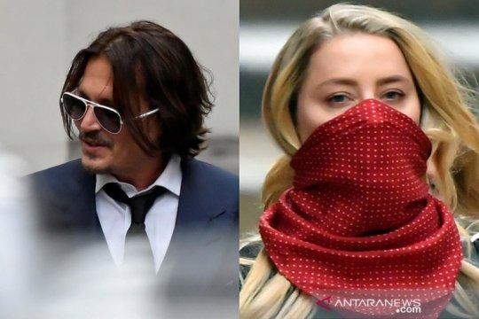 Putusan sidang pencemaran nama baik Johnny Depp rilis Senin
