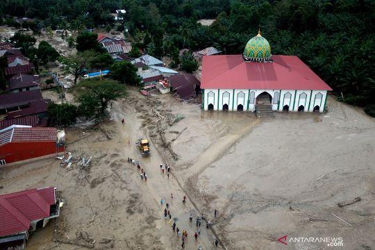 Foto udara lokasi terdampak banjir bandang Masamba