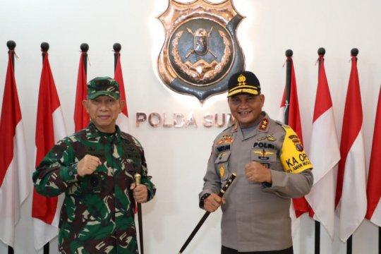 Tentara dan polisi selalu kerja sama jaga kamtibmas di Sumatera Utara