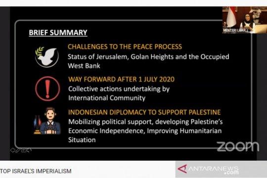 Menlu RI: penundaan aneksasi Israel buah tekanan internasional