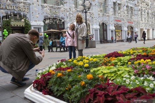 Festival bunga di Moskow