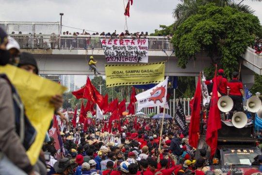 Aksi tolak Omnibus Law RUU Cipta Karya