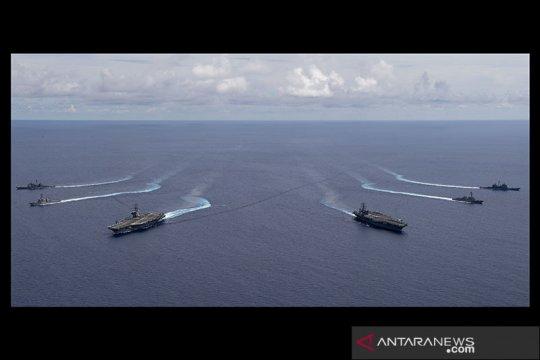 Kapal induk AS kembali ke Laut China Selatan di tengah situasi memanas