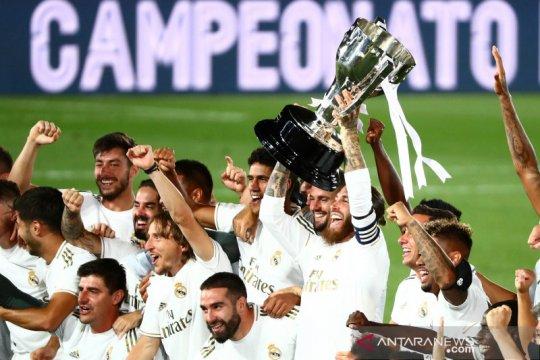 Ringkasan Liga Spanyol ketika Real Madrid pastikan juara