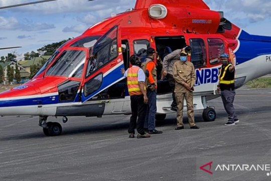 Gubernur dan Kepala BNPB tinjau lokasi banjir Luwu Utara dari udara