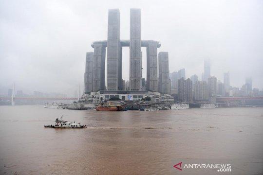 Sungai Yangtze di China meluap untuk kedua kalinya pada tahun ini