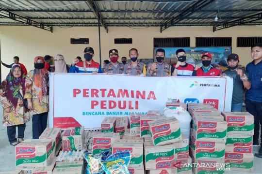 Pertamina salurkan bantuan satu ton beras di Luwu Utara