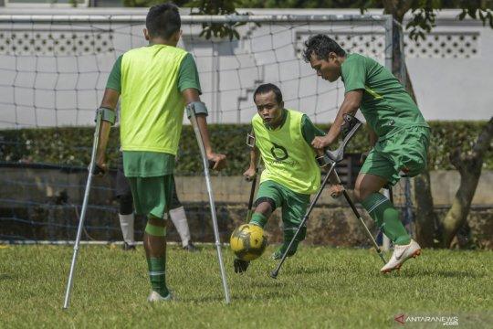 Latihan jelang Piala Asia Amputee Football
