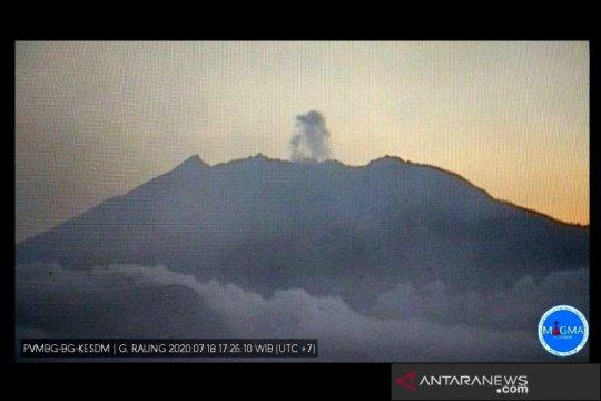 Gempa letusan masih dominasi aktivitas Gunung Raung