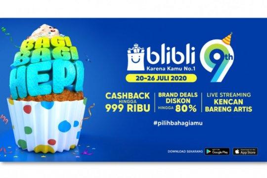 Blibli gelar festival belanja untuk rayakan ulang tahun kesembilan