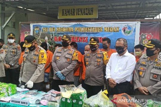 Polisi ungkap jaringan baru narkotika Aceh-Medan-Surabaya
