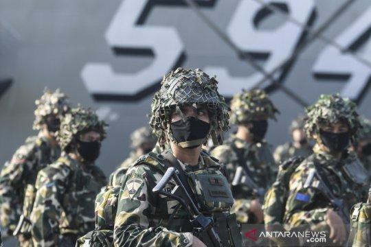 Gelar pasukan Latihan Geladi Tugas Tempur TNI AL