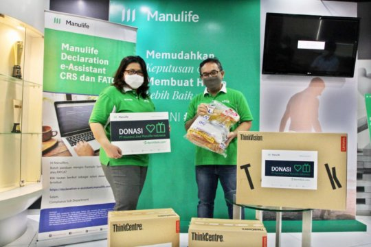 Manulife donasikan Rp3,5 miliar untuk petugas medis dan rumah sakit