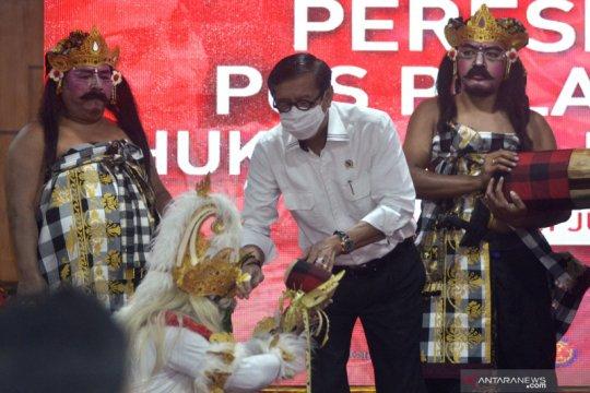 Yasonna resmikan Pos Pelayanan Hukum dan HAM Desa pertama di Bali
