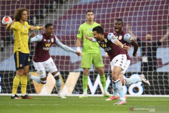 Liga Inggris: Aston Villa kalahkan Arsenal