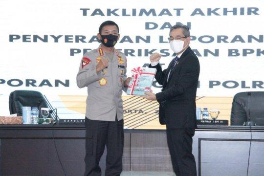 Laporan keuangan Polri 2019 peroleh opini WTP dari BPK