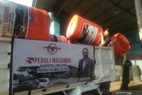 Bantuan kemanusiaan disalurkan Wakil Ketua DPR  di Luwu Utara