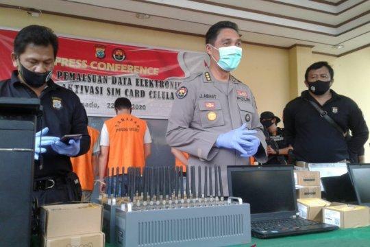 Polisi ungkap pemalsuan data elektronik aktivasi kartu seluler