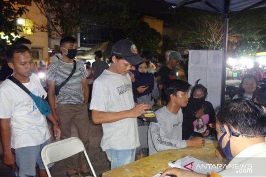 Ratusan warga Cengkareng terjaring razia masker