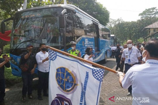 BPTJ uji coba bus JRC jurusan Sentul Bogor - Blok M