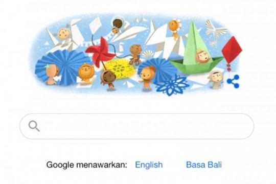 Google Doodle rayakan Hari Anak Nasional dengan permainan tradisional