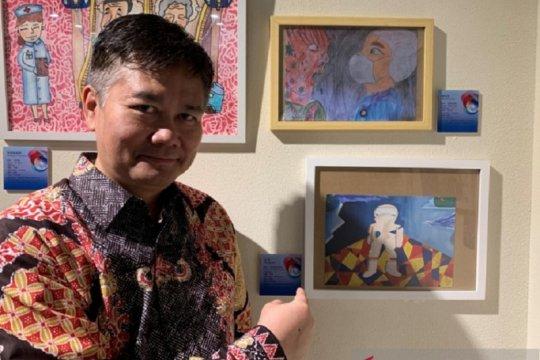 Ada lukisan seniman Yogyakarta dan klepon di Museum Shanghai