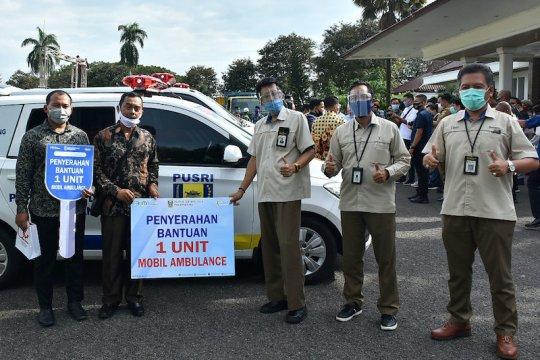 Pusri serahkan bantuan satu unit ambulans di OKU Timur