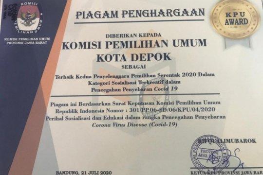 KPU Kota Depok raih tiga penghargaan