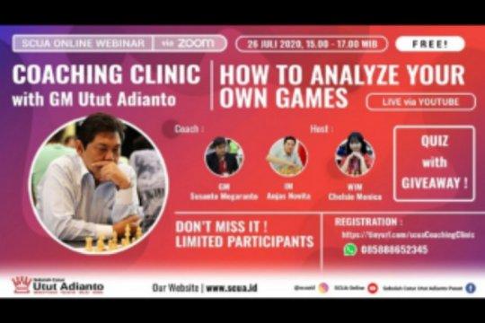 Utut Adianto berbagi ilmu catur secara gratis lewat webinar