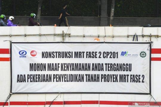 Jalur lambat Medan Merdeka Selatan akan ditutup terkait MRT fase 2