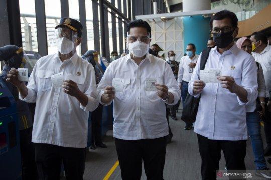 Sejumlah menteri luncurkan aplikasi Ferizy di Pelabuhan Merak