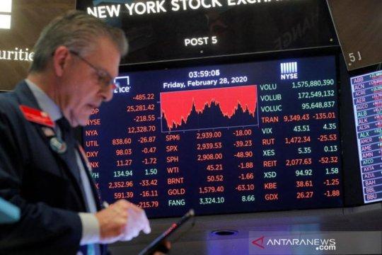 Wall Street berakhir lebih tinggi, indeks Dow Jones naik 0,44 persen