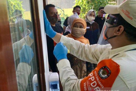 Gubernur Jatim didatangi petugas coklit untuk Pilkada Surabaya