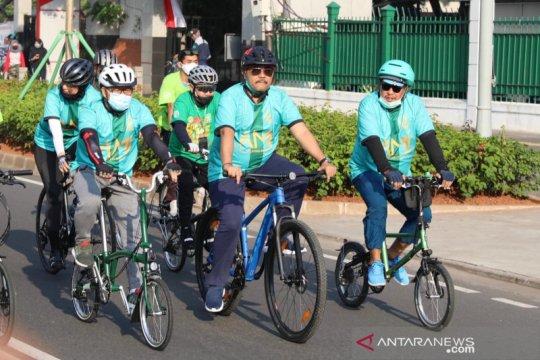 Wakil Ketua MPR ikut bersepeda 'Gowes to Nation' di Jakarta