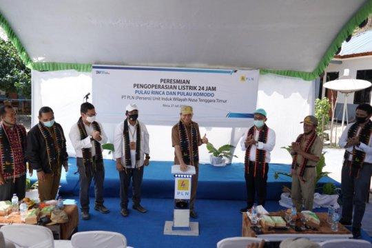 Dua desa di kawasan Taman Nasional Komodo kini dialiri listrik 24 jam